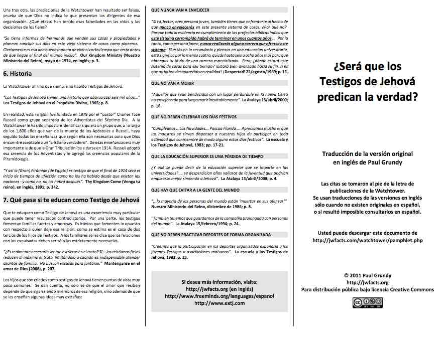 Spanish pamphlet fold